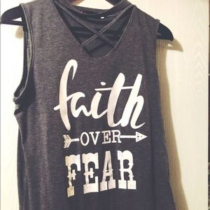 Tops - Faith over Fear tank